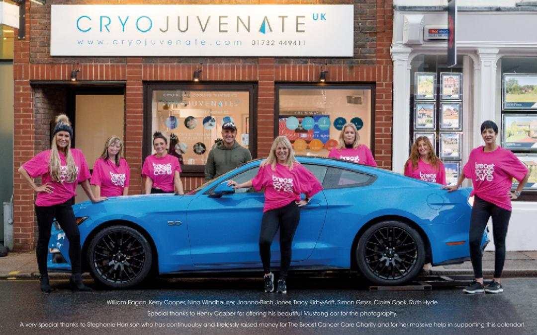 Cryojuvenate 2019 Calendar in aid of Breast Cancer Care